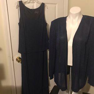 Bogo Alex evenings 14w navy blue formal dress